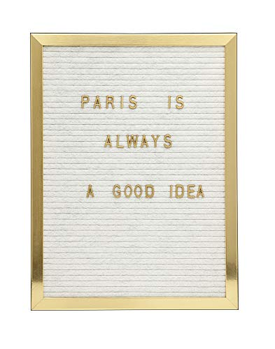 Philip Whitney Changeable Letter Board with Frame Display Announcement Boards for Gift/Restaurant Menu/Quotes - 12