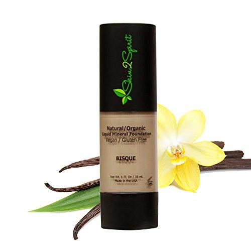 Organic Moisturizing Liquid Foundation (Better'n Ur Skin Organic Liquid Foundation (BISQUE)   Healthy, Buildable Coverage   All Natural   Vegan   Cruelty Free   Gluten Free   Non GMO   Palm Free   Natural Sun Protection)