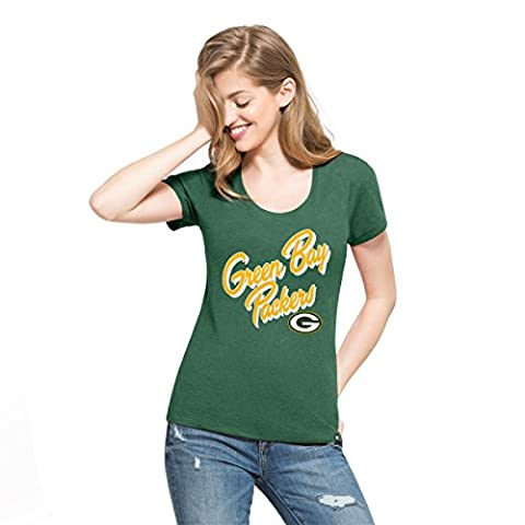NFL Green Bay Packers Women's '47 Club Scoop Tee, X-Large, Dark Green - Club Ladies Tee