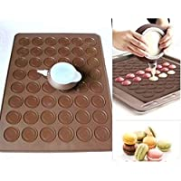 set of 48 Capacity Macarons Mat and Decorating Flower Tools