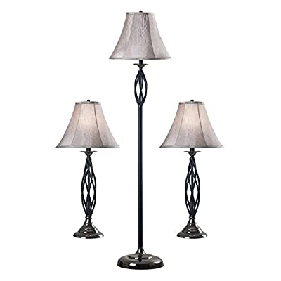 Kenroy Home 30350 Sperry 3-Pack Lamp Set (2 Table Lamps/1 Floor Lamp), 1