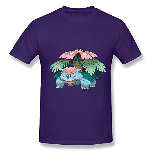 Ryan Men's Tshirts Pokemon Venusaur Size XS Purple