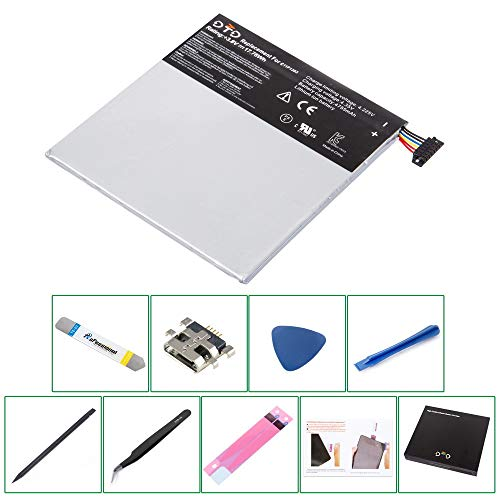 DTD 0 Cycle 4755mAh 17.78Wh C11P1303 Replacement Battery for Asus Google Nexus 7 2013 2nd Gen II Tablet and Tools+Charging Connector (Nexus 7 Tablet Replacement Screen)