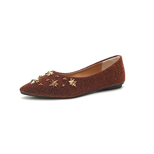 Donyyyy Señoras y señoras, solo zapatos nuevos, de fondo plano puntiagudo, baja baja señaló zapatos de mujer. Thirty-five