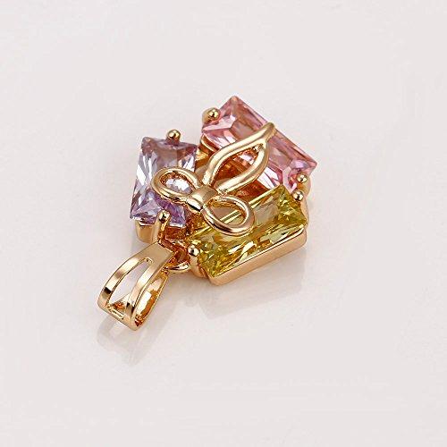 xuping 18K oro color-plated vida feliz conjuntos de colores de collar y pendientes conjuntos de joyas de boxeo día semana
