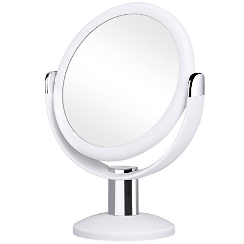 Orange Tech Double Sided Magnifying Makeup Mirror, 1X & 10X Magnification with -