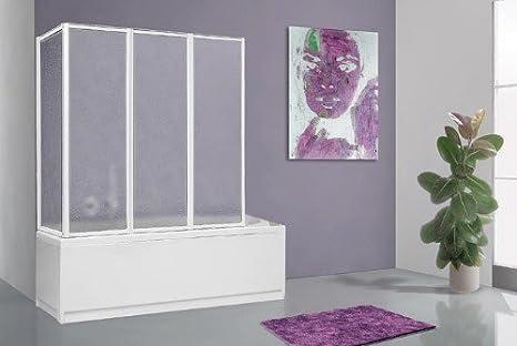 Pareti Per Doccia In Acrilico : Parete sopravasca pieghevole in alluminio bianco e acrilico opaco