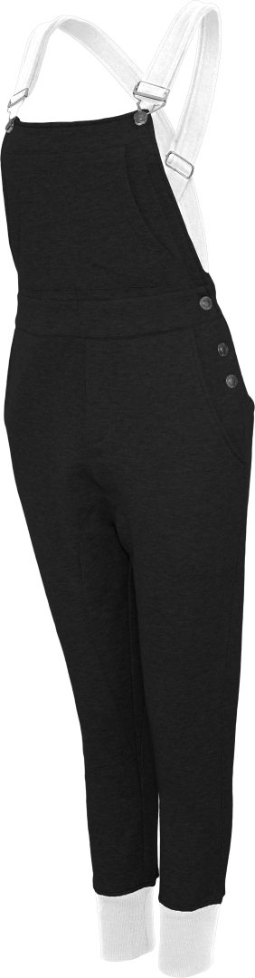 Urban Dance UD062 Womens Urban Dance Dungarees blk/wht XS by Urban Dance