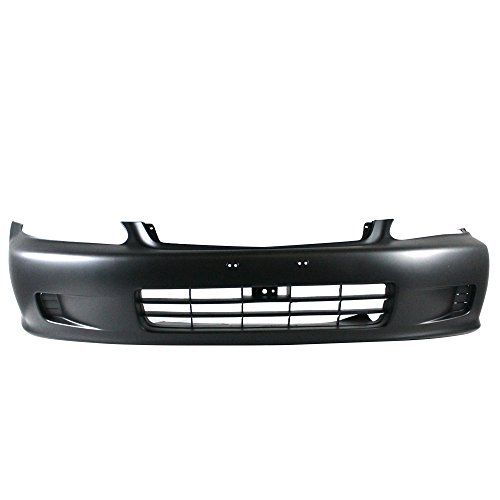 Titanium Plus 1999-2000 Honda Civic Front Bumper Cover PRIME BLACK