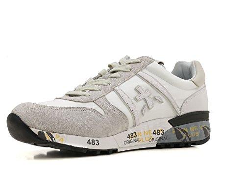 PREMIATA Scarpe Uomo Sneaker camoscio e Tessuto Lander_2016 Bianco n.41 EU Aclaramiento De Compra DAQXTSLQBx