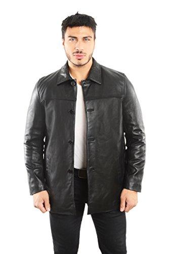 REED EST. 1950 Men's Jacket Genuine Lambskin Leather Four Button Car Coat (XL Tall, ()