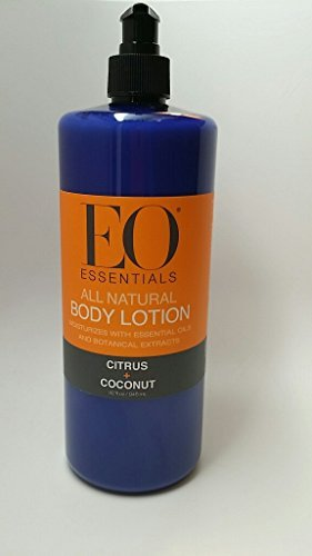 Citrus Moisturizing Massage Oil (EO Essentials All Natural Citrus & Coconut Body Lotion 32oz)