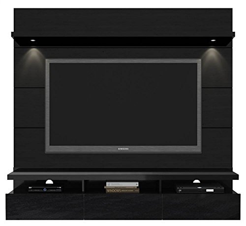 (Manhattan Comfort Cabrini Theater Panel 1.8 Collection TV Stand with Drawers Floating Wall Theater Entertainment Center, 71.25