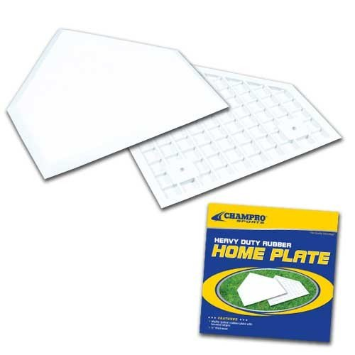 Champro Home Plate without Spikes, Box (White) ()