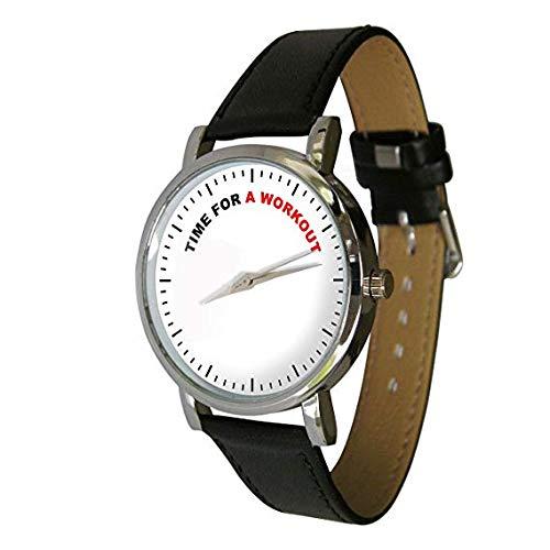 Tiempo para un entrenamiento diseño reloj con una correa de piel: YWD: Amazon.es: Relojes