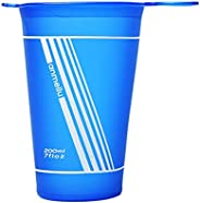 200ML Collapsible Water Cup, Outdoor Sports Water Cup Folding Portable Drinking Mugs BPA Free Silicone Running
