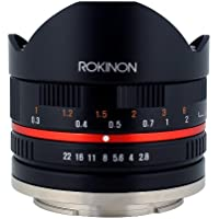 Rokinon 8mm F2.8 UMC Fisheye II (Black) Lens for Samsung NX Mount Digital Cameras (RK8MBK28-NX)