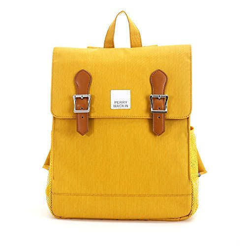 Perry Mackin Charlie Kids School Backpack - Stylish, Durable, Water-Resistant Back-to-School Children's Bookbag with Padded Adjustable Shoulder Straps - Mustard by Perry Mackin