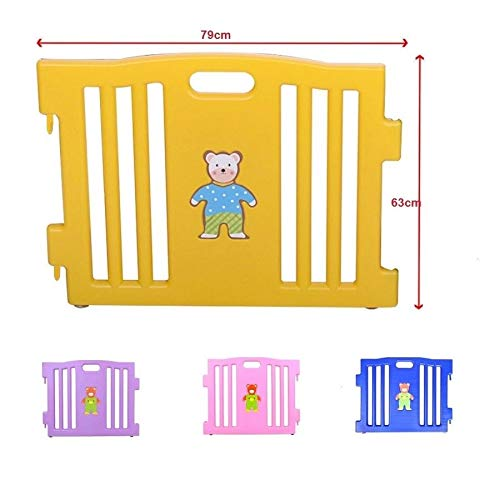 Baby Babies Care Safety Fence Gates Best Choice DIY No Screws Without Wooden 6 Panel Baby Playpen Safety Play Center Yard Home Indoor Outdoor Pen by kwantasmile (Image #4)