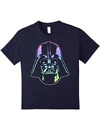 Darth Vader Head Neon Gradient Graphic T-Shirt