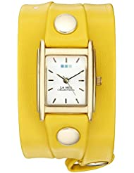 La Mer Collections Womens Quartz Gold-Tone Casual Watch, Color:Yellow (Model: LAMERSPECIALEDITION003)