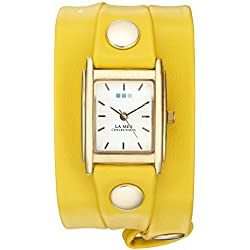 La Mer Collections Women's Quartz Gold-Tone Casual Watch, Color:Yellow (Model: LAMERSPECIALEDITION003)