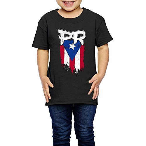 Puerto Rico Flag Dress (LittleMonsterLove Puerto Rico PR Flag Boricua Toddlers' Casual T Shirt Comfy Short Sleeve Top Tee Round Neck 3 Toddler)