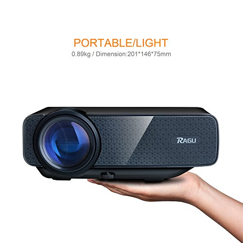 Ragu z400 1600 lumens mini portable projector home for Portable movie projector