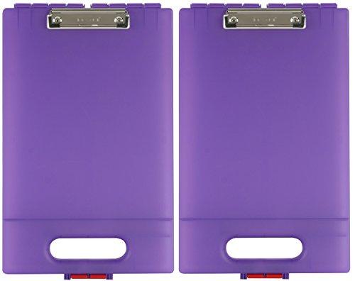 Dexas Office Clipcase Storage Clipboard, Set of Two, Purple (Clipboards Dexas)