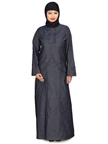 AY Abaya 126 Burqa Frauen Denim muslimischen Formal Kleid Wear MyBatua Blue Anfqpvz