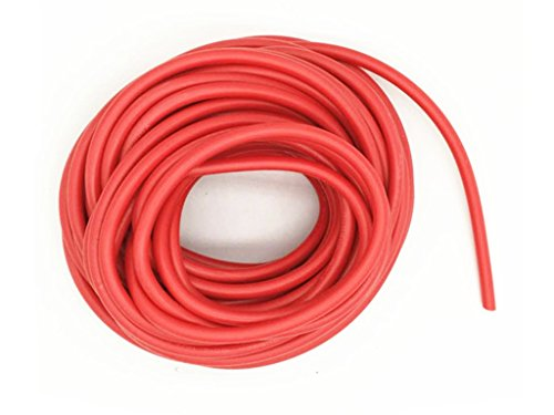 XJS Electric Copper Core Flexible Silicone Wire Cable Red 10M 32.8Ft (14AWG 30KV) by xjs