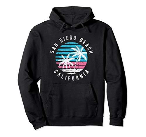 (San Diego California Beach Surf Hoodie Sweatshirts)
