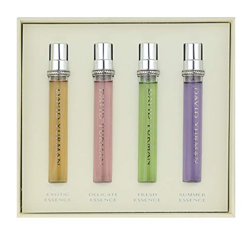 David Yurman Fragrance Essence Collection Quartet Gift Set Limited Edition (Four 0.25 OZ Mini Spray Travel Size Set)