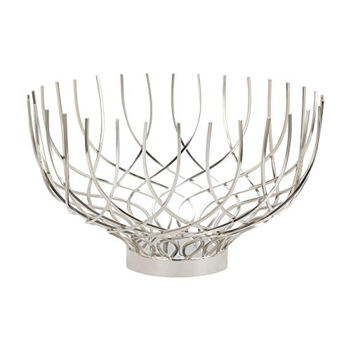 Lazy Susan Dimond Home Vortex Decorative Bowl, Silver