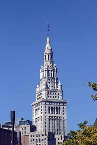 Photograph   View of Terminal Tower, long the signature building of Cleveland, Ohio  Fine Art Photo Reporduction 44in x 66in (66 Building Terminal)