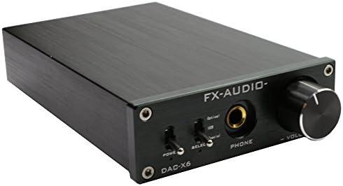 FX Audio DAC-X6 24BIT 192 Optical Coaxial USB Digital Audio Amplifier DAC Decoder Black