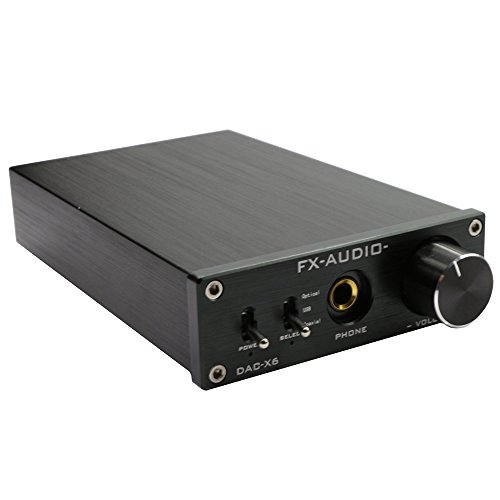 FX Audio DAC-X6 24BIT/192 Optical/Coaxial/USB Digital Audio Amplifier DAC Decoder Black