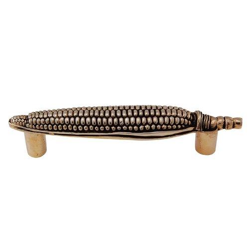 Vicenza Designs K1082 Fiori Corn Pull, 3-Inch, Antique Gold