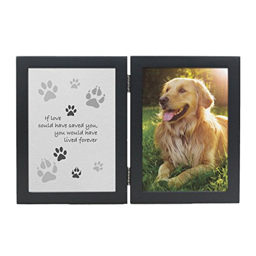 MMP Living Pet Memorial Frame - If Love Could Have Saved You - pet Loss Gift - Double Open Frame