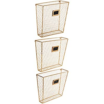 Amazon Com Mygift Wall Mounted Gold Tone Metal Chicken