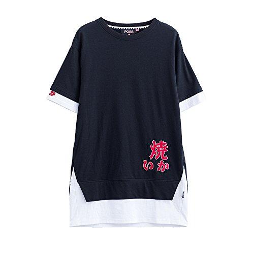 第二にステッチ献身夏の女性のカラーマッチングスリーブ半袖のドレス女性の長い段落スーパー火災のスカート DYY