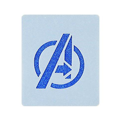 Avengers Logo Face Painting Stencil 7cm x 6cm Washable Reusable Mylar