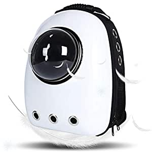 Lemonda Portable Travel Pet Carrier,Space Capsule Bubble Design,Waterproof Handbag Backpack for Cat and Small Dog Mutil Colors to Choose (White)