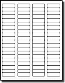 """1,600 Label Outfitters 1.75"""" x .5"""" Matte Laser Clear Return Address Labels – 20 Sheets"""