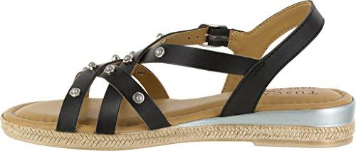 Easy Street Womens, Renata Low Heel Sandals Black