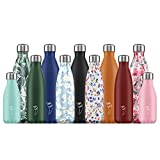 Chilly's Bottles | Leak-Proof, No Sweating | BPA-Free Stainless Steel | Reusable Water Bottle | Double Walled Vacuum Insulated | Keeps Drinks Cold for 24+ Hrs, Hot for 12 Hrs | Abstract 6, 500ml