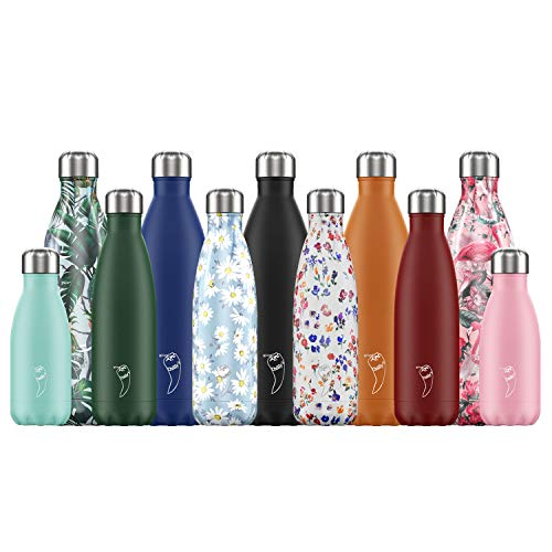 Chilly's Bottles | Leak-Proof, No Sweating | BPA-Free Stainless Steel | Reusable Water Bottle | Double Walled Vacuum Insulated | Keeps Drinks Cold for 24+ Hrs, Hot for 12 Hrs | Peach, 500ml