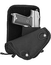 ProCase-pistooltas, tactisch zacht schietpistool Range Bag Pistoolmagazijnzak Plunjezak voor jacht- of schietbaan Sport- Zwart