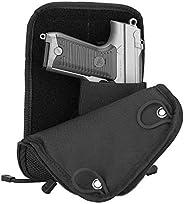 ProCase Pistol Bag, Tactical Soft Shooting Gun Range Bag Handgun Magazine Pouch Duffle Bag for Hunting or Shoo