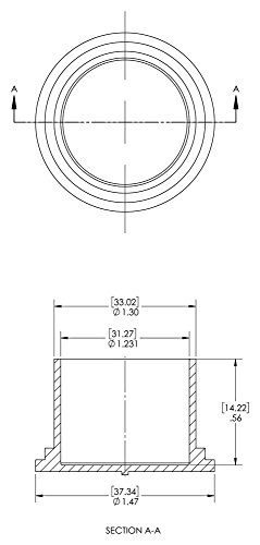 Caplugs 99190922 Cap for Threaded Connectors, Plastic, To Cap Nominal Thread Size 1-1/4'', EC-20, Red (Pack of 500) by Caplugs (Image #1)